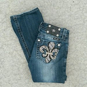 Miss Me Dark Wash Mid-Rise Boot Jeans 26